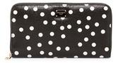 Dolce & Gabbana Leather Polka Dot Zip-Around Wallet