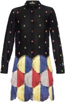 Marco De Vincenzo Tassel embroidered fil coupé dress