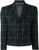DSQUARED2 Tartan check cropped blazer - women - Cotton/Polyamide/Polyester/Wool - 38