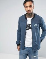 Nike Advance Knit Jersey Bomber Jacket In Blue 837008-464