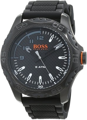 HUGO BOSS Mens Analogue Classic Quartz Watch with Silicone Strap 1550032