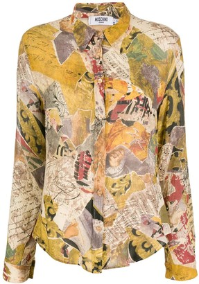 Moschino Pre-Owned 1990s Abstract Print Slim-Fit Shirt