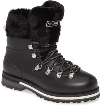 MICHAEL Michael Kors Lanis Faux Fur Trim Waterproof Lace-Up Boot