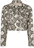 Altuzarra snake-effect jacket - women - Cotton/Calf Leather/Polyester/Acetate - 38