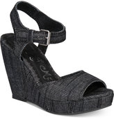 Naughty Monkey Block Party Platform Wedge Sandals Women's Shoes