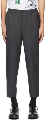 Comme des Garçons Homme Deux Grey Wool Check Trousers