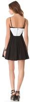 BB Dakota Gable Linen Colorblock Dress