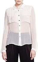 The Kooples Semi Sheer Silk Shirt