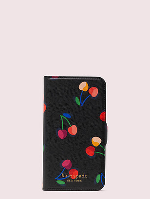Kate Spade Spencer Cherries Iphone 8 Magnetic Wrap Folio Case