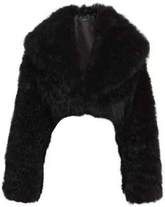 Alaia Cropped Goat Fur Coat