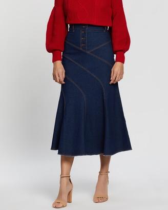 Shona Joy Emmerson Contour Midi Skirt