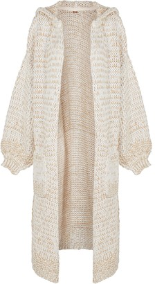 Free People Crofter chunky-knit cotton-blend cardigan