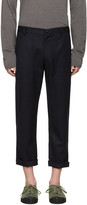 Comme des Garcons Navy Wool Gabardine Trousers