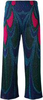 Circus Hotel metallic wide cropped trousers - women - Viscose/Polyester - XS
