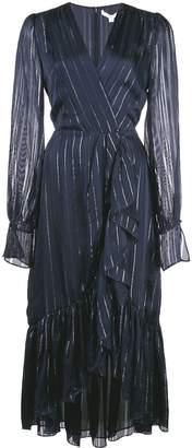 Jonathan Simkhai metallic wrap dress