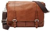 Fossil Men's 'Graham' Leather Messenger Bag - Metallic
