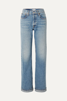 RE/DONE '90s Relaxed Long High-rise Straight-leg Jeans - Mid denim
