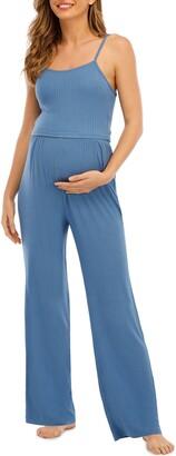 Savi Mom St. Tropez Maternity Tank, Pants and Maxi Robe Set