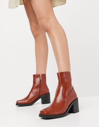 Raid Zerrin heeled ankle boots in tan