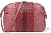 Bottega Veneta Nodini Small Embroidered Intrecciato Leather Shoulder Bag - Pink