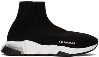 Balenciaga Black and Transparent Rubber Speed Sneakers