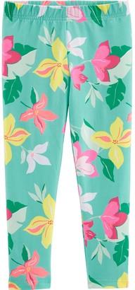 Carter's Girls Tropical Floral Capri Leggings