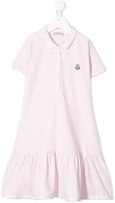 Moncler Enfant Ruffled Hem Polo Dress
