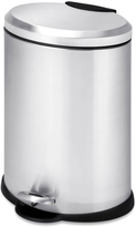 Honey-Can-Do Oval Stainless Steel Step Trash Can