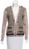 Lanvin Tweed Panel Linen Cardigan w/ Tags