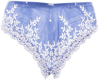 Wacoal Embroidered Stretch-lace Mid-rise Briefs