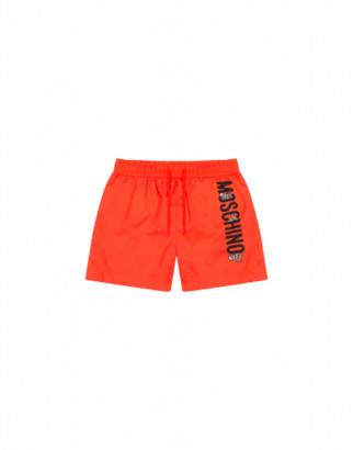 Moschino Teddy Logo Beach Boxer Man Orange Size 4a It - (4y Us)
