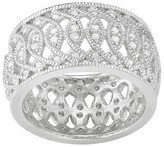 Journee Collection 1/4 CT. T.W. Round-cut CZ Wide Band in Sterling Silver