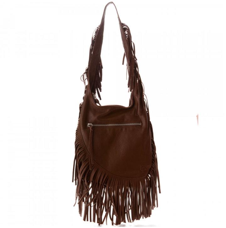Linea Pelle Janis Fringe Shoulder Bag