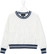 Little Remix lace sweatshirt - kids - Cotton/Nylon/Polyester - 14 yrs
