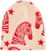 Mini Rodini Girls' Zebra Print Beanie w/ Tags