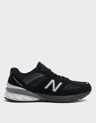 New Balance Women's 990 Sneaker In Black, Size 5 | Leather