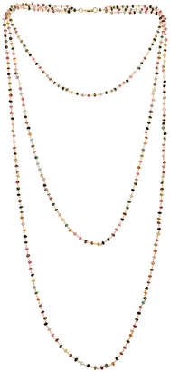 Forever Creations Usa Inc. Forever Creations Plated 60.00 Ct. Tw. Multicolor Tourmaline Necklace