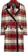 Burberry Tartan Wool-blend Coat - Red