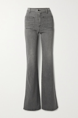 Nili Lotan Florence Distressed High-rise Flared Jeans - Gray