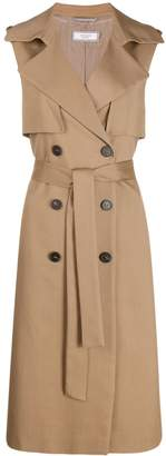 Peserico double-breasted trench gilet