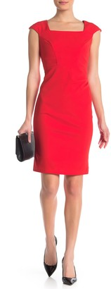 Marina Cap Sleeve Sheath Dress