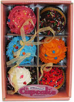 Kurt Adler Set of 6 Cupcake Ornaments