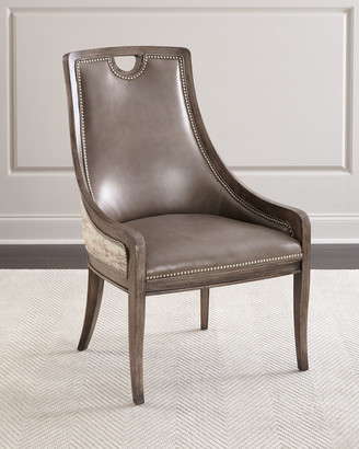 Massoud Silvana Leather Dining Chair