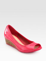 Cole Haan Air Ali Patent Leather Cork Wedge Sandals