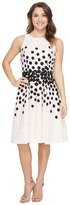 Tahari by Arthur S. Levine Petite Dot Print Fit-and-Flare Dress Women's Dress