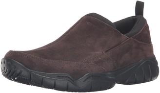 Crocs Men's Swiftwater Leather Moc Flat
