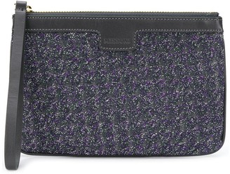 Missoni Embroidered Zipped Clutch