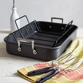 Sur La Table Hard-Anodized Roasting Pan with Nonstick Rack and Bonus Lifters