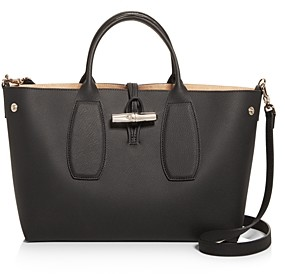Longchamp Roseau Medium Leather Tote
