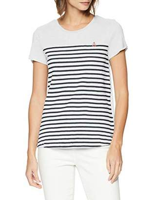 Tom Tailor NOS) Women's 1007877 T-Shirt, Off- White 10332, X-Small